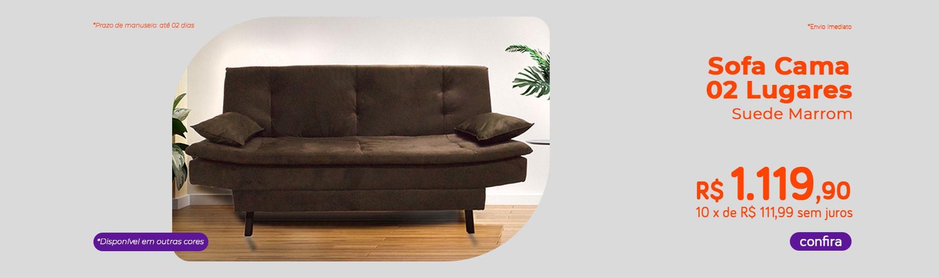 Sofa Cama 02 Lugares
