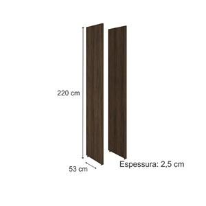 02 Reguas Laterais 100% MDF Para Cozinha Modulada Kali Premium 3113.0 Amendoa Rustico Nicioli