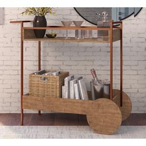 Aparador Bar Com Rodas Decorativas Steel Quadra 27853 Vermont Cobre Artesano