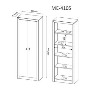 Armario 02 Portas Para Escritório ME4105 Rustico Tecno Mobili