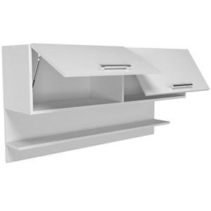 Armario Aereo 02 Portas Basculante CZ04 Branco Nova Mobile