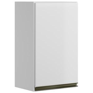 Armario Aereo 1 Porta 30 CM 100% MDF Kali Premium 3045.1 Branco Nicioli