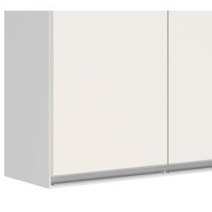 Armario Aereo 2 Portas 70 CM 100% MDF Kali Premium 3052.6 Branco Off White Nicioli
