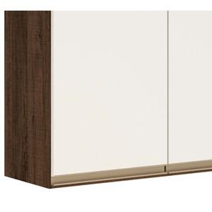 Armario Aereo 2 Portas 80 CM 100% MDF Kali Premium 3061.6 Amendoa Rust Off White Nicioli