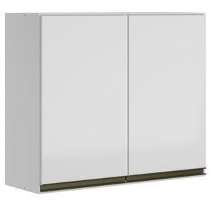 Armario Aereo 2 Portas 80 CM 100% MDF Kali Premium 3061.6 Branco Nicioli