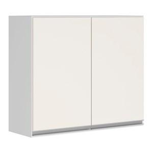 Armario Aereo 2 Portas 80 CM 100% MDF Kali Premium 3061.6 Branco Off White Nicioli
