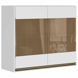 Armario Aereo 2 Portas 80 CM 100% MDF Kali Premium 3061.7 Branco Nicioli