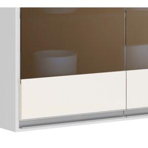 Armario Aereo 2 Portas 80 CM 100% MDF Kali Premium 3061.7 Branco Off White Nicioli