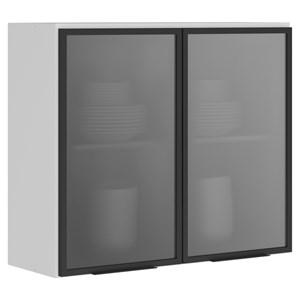 Armario Aereo 2 Portas Vidro 80 CM 100% MDF Kali Premium 3061.8 Branco Nicioli