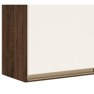 Armario Aereo 3 Portas 120 CM 100% MDF Kali Premium 3042.10 Amendoa Rust Off White Nicioli