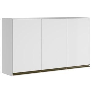 Armario Aereo 3 Portas 120 CM 100% MDF Kali Premium 3042.10 Branco Nicioli