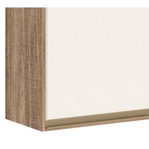Armario Aereo 3 Portas 120 CM 100% MDF Kali Premium 3042.10 Carvalho Rust Off White Nicioli