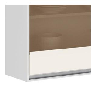 Armario Aereo 3 Portas Vidro 120 CM 100% MDF Kali Premium 3042.11 Branco Off White Nicioli