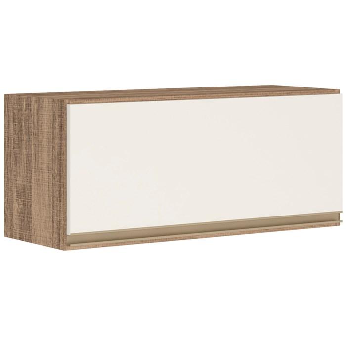 Armario Aereo Basculante 1 Porta 80 CM 100% MDF Kali Premium 3059.1 Carvalho Off White Nicioli