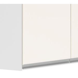Armario Aereo Canto Obliquo 100% MDF Kali Premium 3053.6 Branco Off White Nicioli
