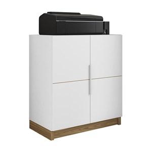 Armario Baixo Para Escritorio Cubic Branco Louro Freijo Caemmun