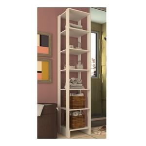 Armario Closet 06 Prateleiras Multiuso EY104 Branco Nova Mobile