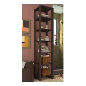 Armario Closet 06 Prateleiras Multiuso EY104 Grafite Intenso Nova Mobile