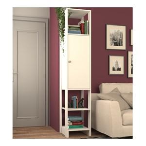 Armario Closet Multiuso 01 Porta EY107 Branco Nova Mobile
