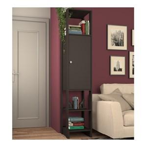 Armario Closet Multiuso 01 Porta EY107 Grafite Intenso Nova Mobile