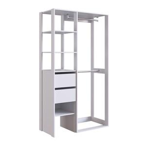 Armario Closet Multiuso E Escrivaninha CJ16 Branco PP Milani Store