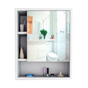 Armario De Banheiro Slin Com Espelho ARM5005 Branco APT Milani Store