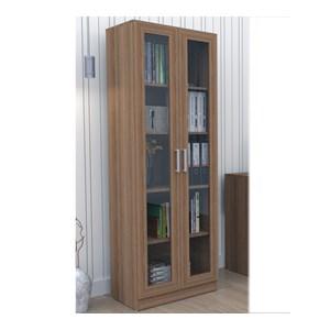 Armario Escritorio 02 Portas de Vidro ARM3003 Castanho APT Milani Store