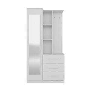 Armario Multiuso Brisa Branco Com Espelho Demobile