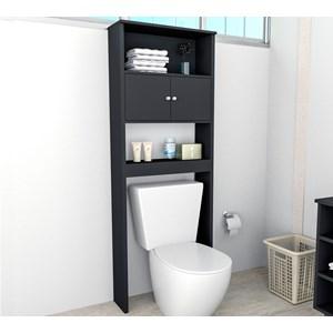 Armario Para Banheiro Slin ARM5004 Preto APT Milani Store