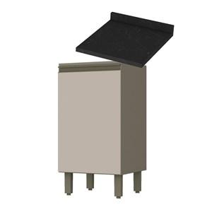 Balcao 01 Porta 40 CM Com Tampo 100% MDF Connect C62/902 Duna Cristal Nero Henn