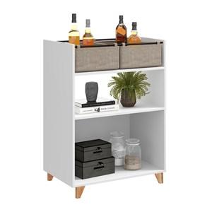 Balcao 02 Portas Drink 1003 Branco Be Mobiliario