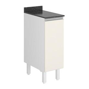 Balcao 1 Porta 30 Cm 100% MDF Kali Premium 3101.21 Branco Off White Nicioli