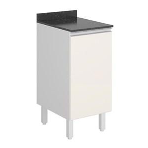 Balcao 1 Porta 40 Cm 100% MDF Kali Premium 3081.21 Branco Off White Nicioli