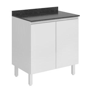 Balcao 2 Portas 80 Cm 100% MDF Kali Premium 3095.21 Branco Nicioli