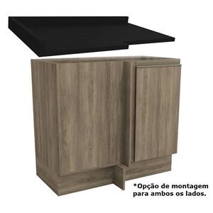 Balcao De Canto Com Tampo 98CM Maxxi G748/B649 Nogal Preto kappesberg