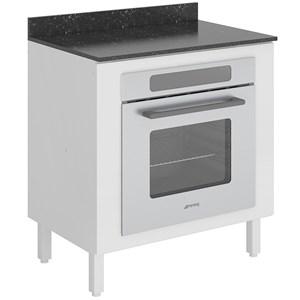 Balcão Para Forno Embutido 80 Cm 100% MDF Kali Premium 3102.21 Branco Nicioli