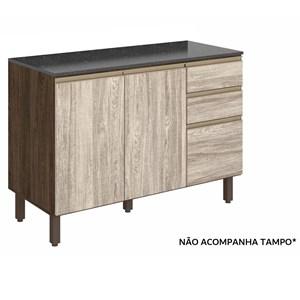 Balcao Para Pia 120 CM 100% MDF Kali Premium 3074.16 Amendoa Arezzo Rust Nicioli