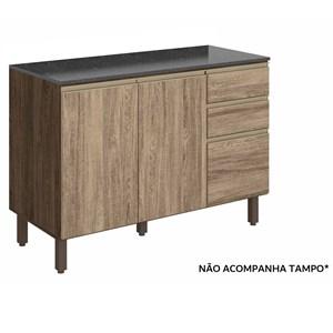 Balcao Para Pia 120 CM 100% MDF Kali Premium 3074.16 Amendoa Carvalho Rust Nicioli