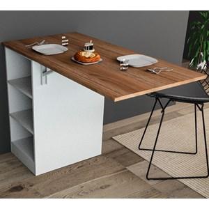 Bancada Gourmet Para Cozinha Enjoy BAC3400 Castanho Branco APT Milani Store