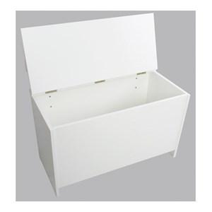 Banco Baú Organizador / Caixa de Lenha CL001 Branco Completa Moveis
