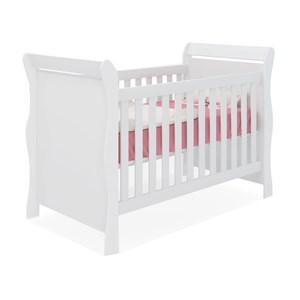 Berço Mini Cama Infantil Amore 1355 Branco Qmovi