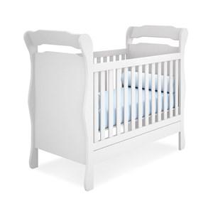Berço Mini Cama Infantil Amore 773 Branco Com Colchao Qmovi