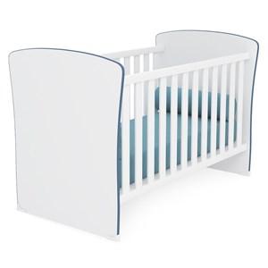 Berço Mini Cama Infantil Doce Sonho 2484 Branco Azul Com Colchao Qmovi
