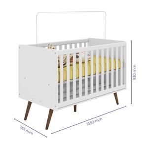 Berço Mini Cama Infantil Retro 2857 Branco Qmovi