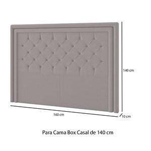 Cabeceira Box Casal Padova 140 CM Tca 946 PF Móveis