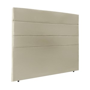 Cabeceira Casal 140cm Bia Suede Marfim ID Milani Store