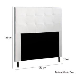 Cabeceira Casal 140cm Delta Material Sintetico Branco ITFlex