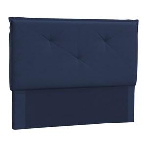 Cabeceira Casal 140cm Vic Suede Azul DMonegatto