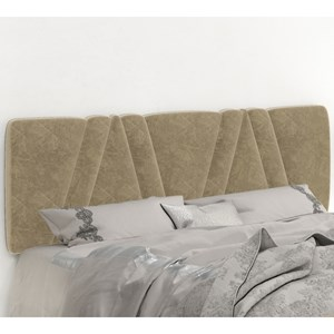 Cabeceira Painel Mille 140cm Suede Am Bege