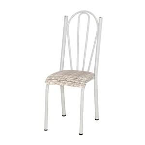 Cadeira Tubular Branca 021 Assento Rattan